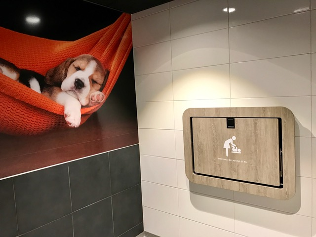 Toletto baby verschoonruimte Esso Rotselaar België