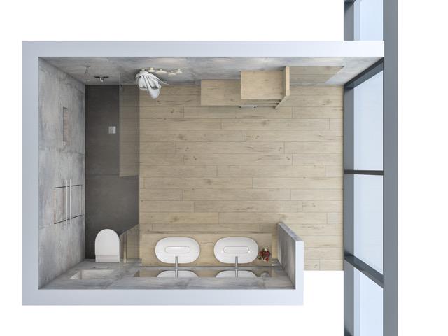 Duurzame badkamer - birdeye - Delftsblauw